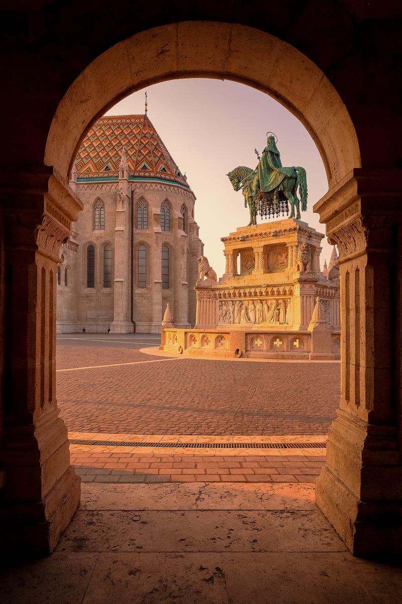 Fisherman's Bastion, Stephen I of Hungary – Budapest