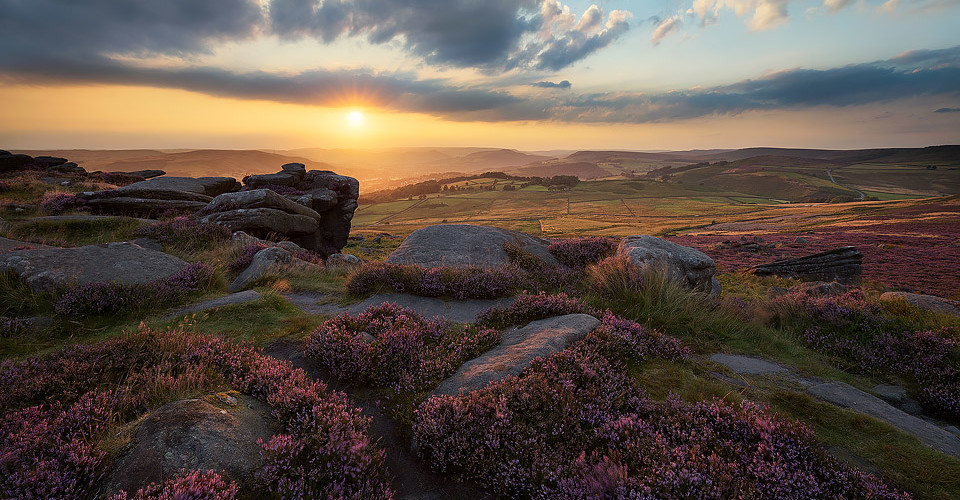 Over Owler Tor Heather