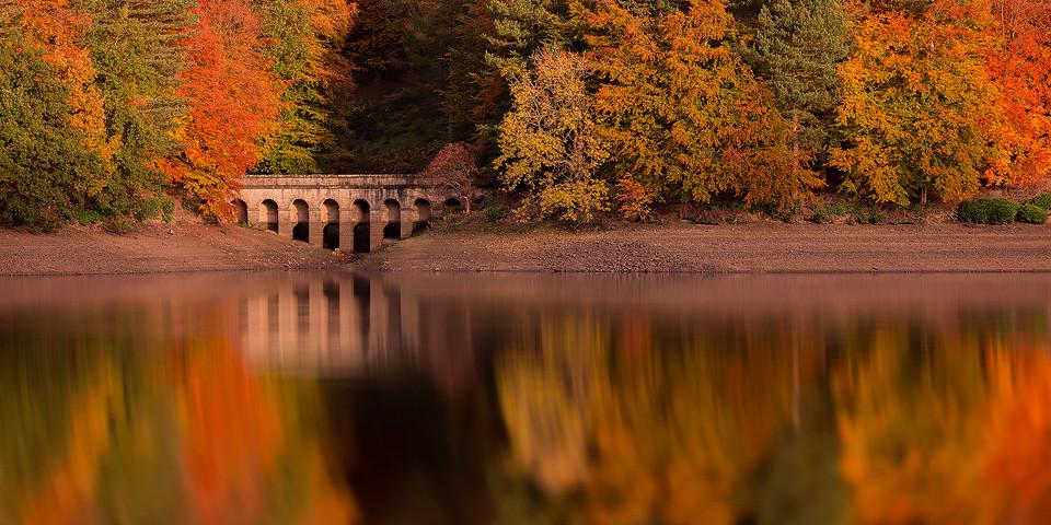 Autumn reflections at Derwent Reservoir - Peak District Photography