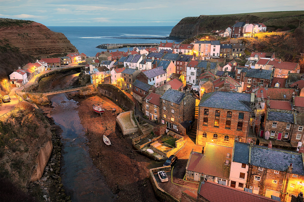 Staithes At Dusk