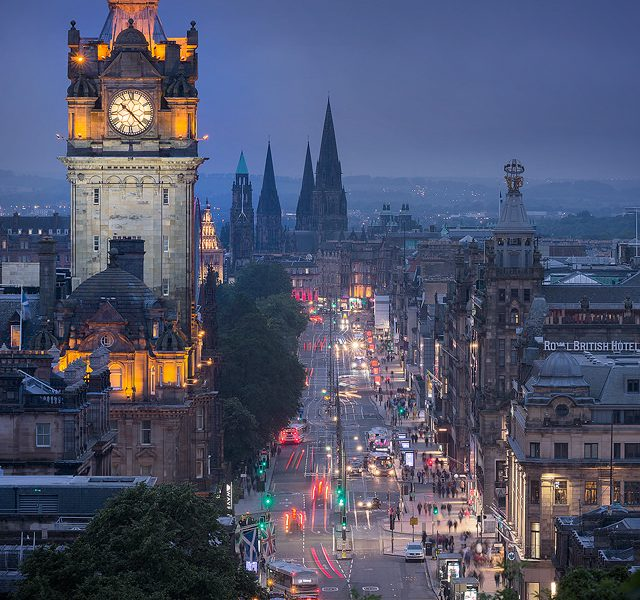 Princess Street at Dusk - Edinburgh Photography