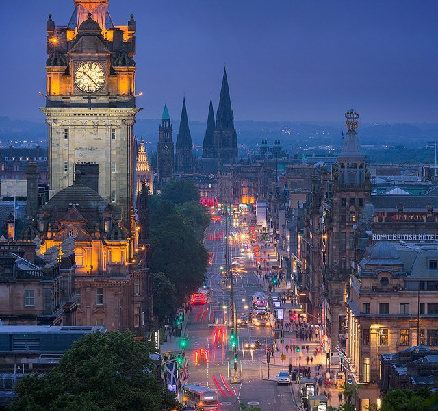 Princess Street at Dusk - Edinburgh Photography