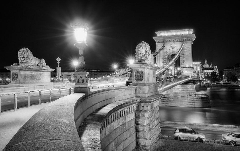 Széchenyi Chain Bridge Lions - Budapest