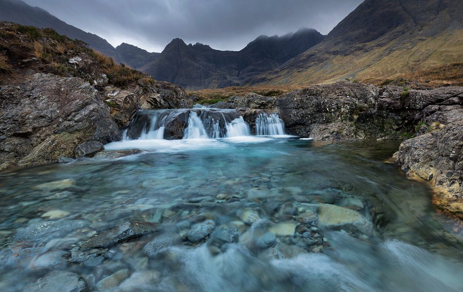 Stunning Turquoise water at the Fairy Pools, Isle of Skye.