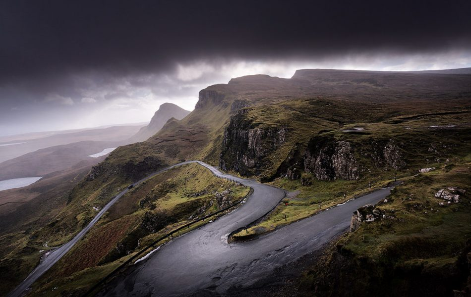 The Unnamed Road that runs alongside The Quiraing, Isle of Skye. UK Landscape Photography
