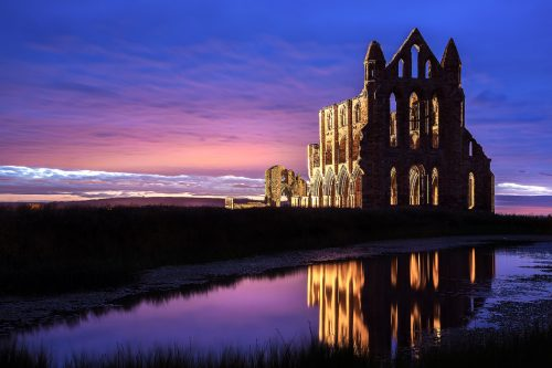 Whitby Abbey during the blue hour - Yorkshire Coast