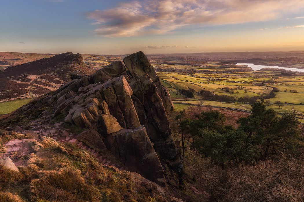 sunset at The Roaches - Peak District Photography