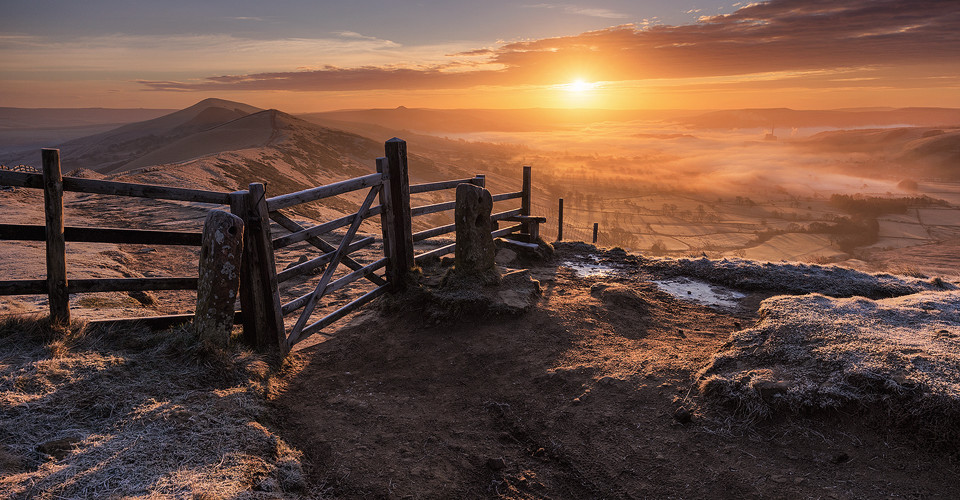 Mam Tor gate, the great ridge, Mam Tor - Peak District Photography