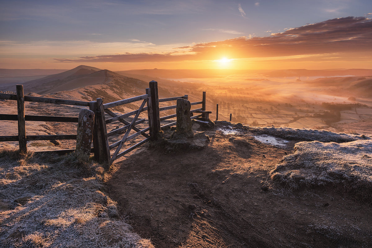 Mam Tor gate, the great ridge, Mam Tor - Peak District Photography