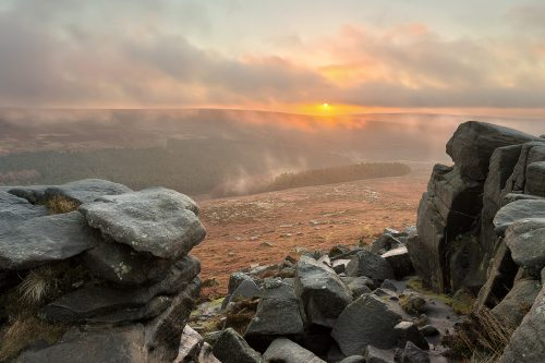 Higger Tor sunrise - Peak District Photography