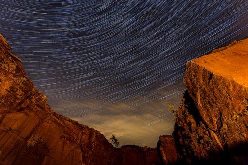 Burbage Edge star trails - Peak District Astrophotography