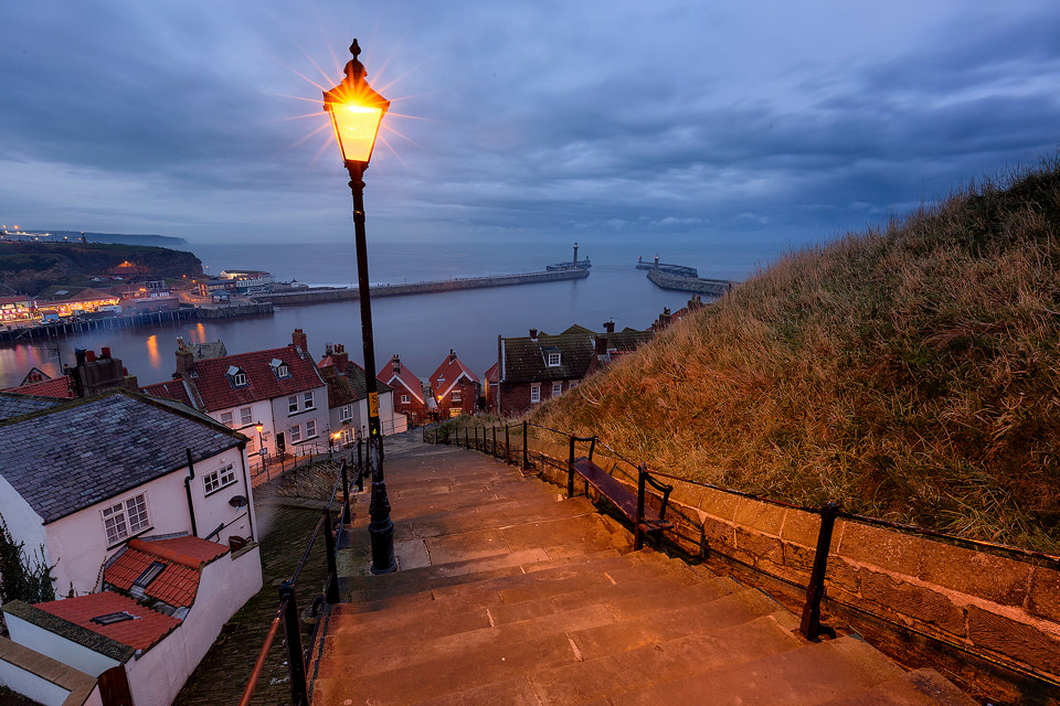 Whitby Steps looking down towards the harbour - Yorkshire Coast