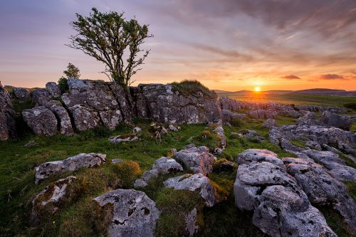 Limestone Pavement Sunset