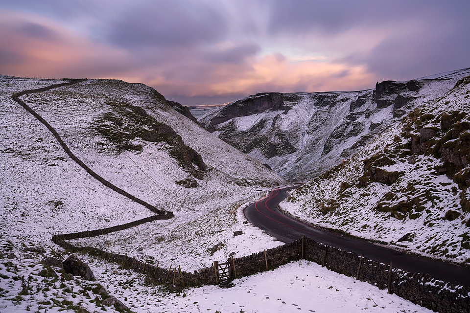 Wintry Winnats Pass