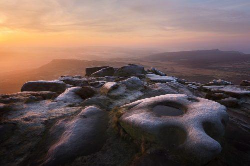 Dawn Frost on Higger Tor - Peak District Landscape photographs