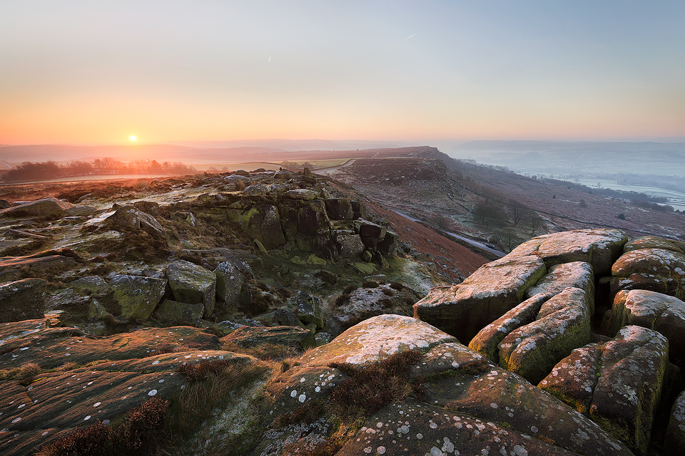 Curbar Edge Sunrise - Peak District landscapes