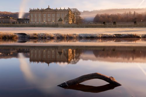 Chatsworth House reflected in the River Derwent - Peak District Photography