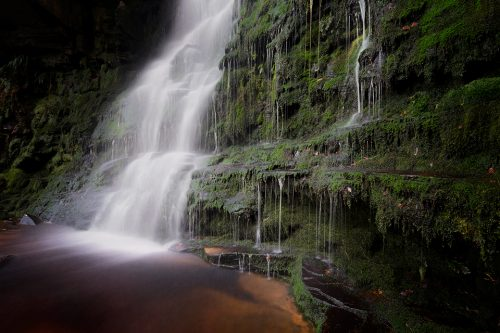 Middle Black Clough Waterfall - Peak District waterfall photography