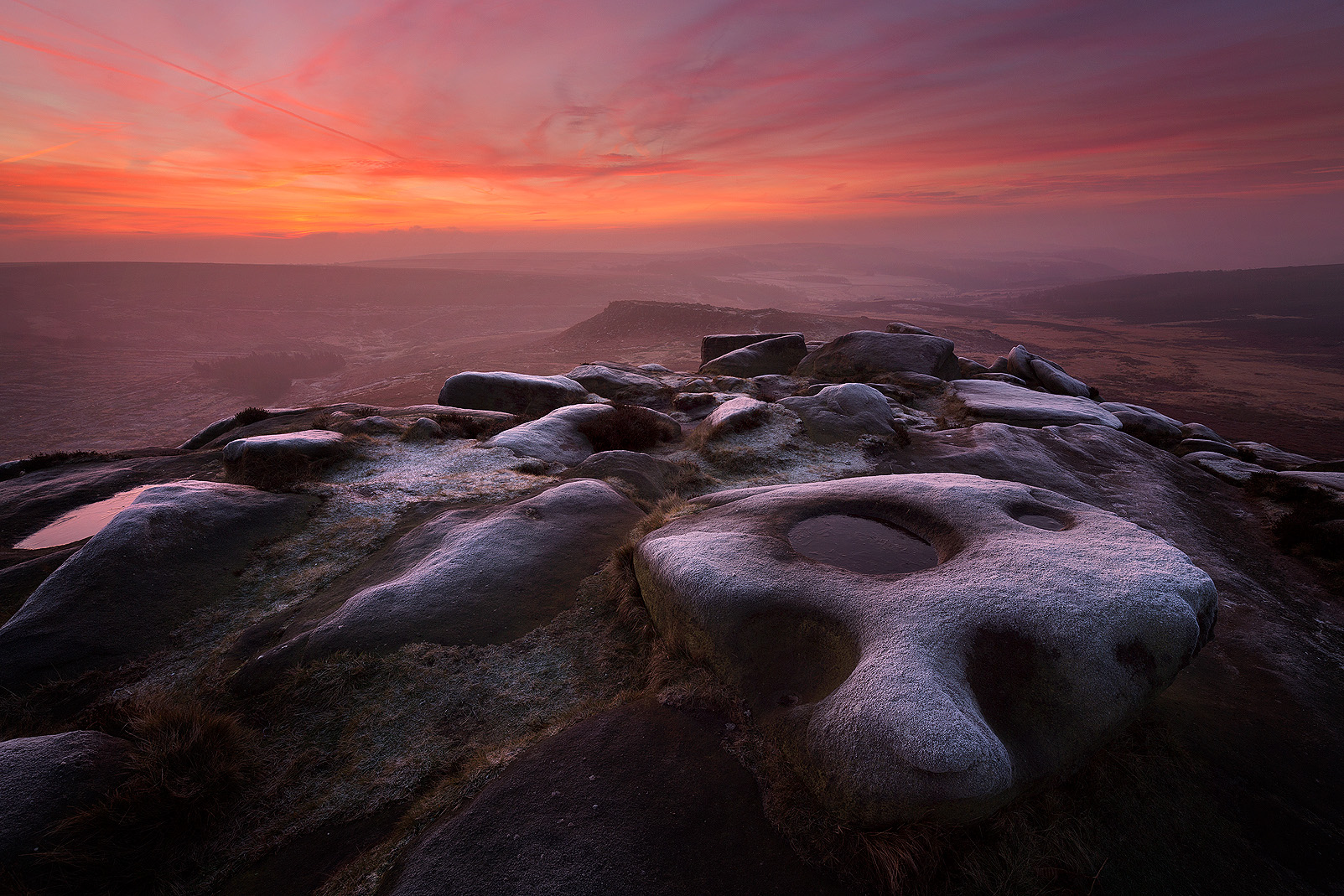 Higger Tor at dawn - Peak District landscape Photography