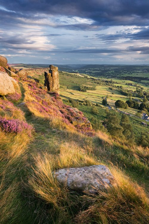 Curbar Edge Pinnacle Stone - Peak District Photography