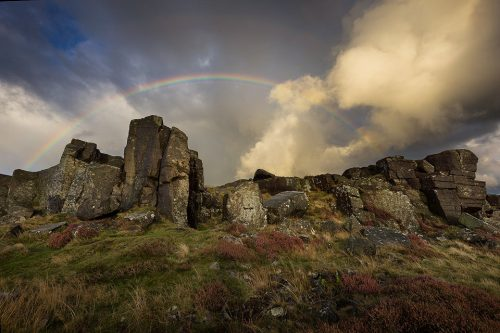 Curbar Edge Rainbow - Peak District Photography