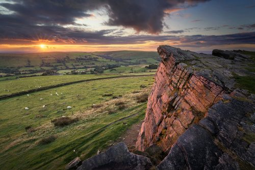 Windgather Rocks Sunset - Peak District Photography